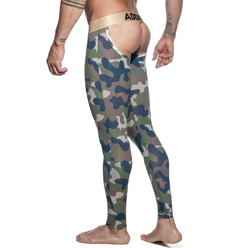 ADDICTED backless LEGGINGS AD695 camouflage in oliv green