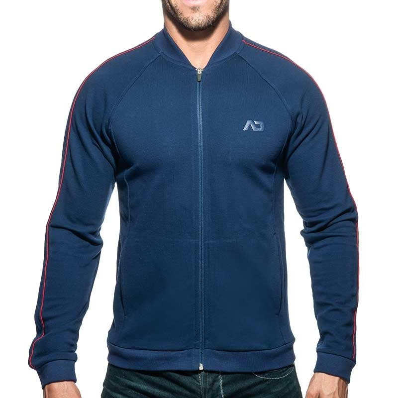 ADDICTED SWEAT JACKET AD725 combines JACQUET in dark blue