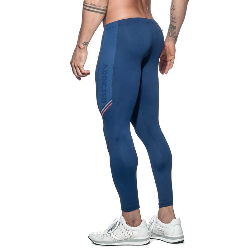 ADDICTED LEGGINGS sport AD631 tight in dunkelblau