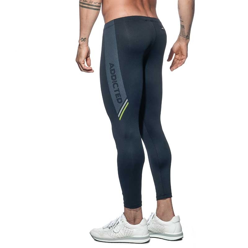 ADDICTED LEGGINGS sport AD631 tight in schwarz