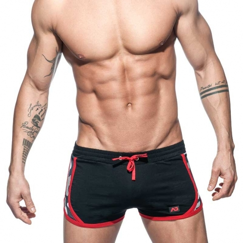 ADDICTED SHORTS detail AD645 camouflage in black