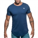 ADDICTED T-SHIRT basic AD696 tief rund in dunkelblau