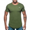 ADDICTED T-SHIRT basic AD696 deep round in oliv green