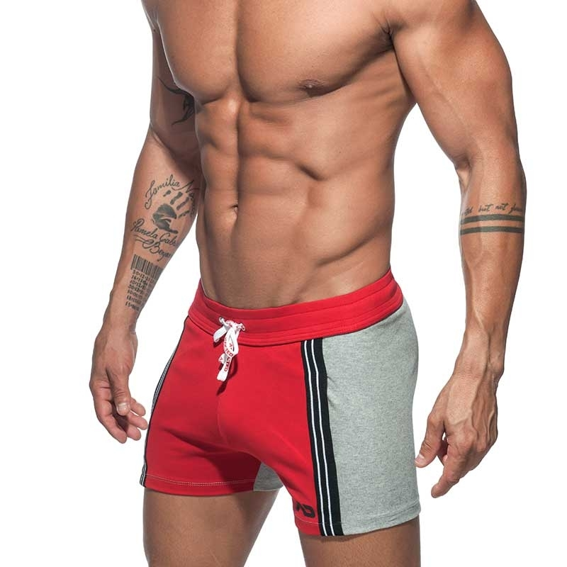 ADDICTED SHORTS retro AD674 colored panel in red