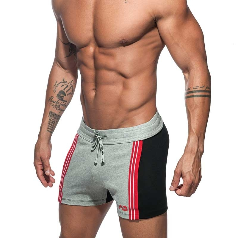 ADDICTED SHORTS retro AD674 colored panel in grey