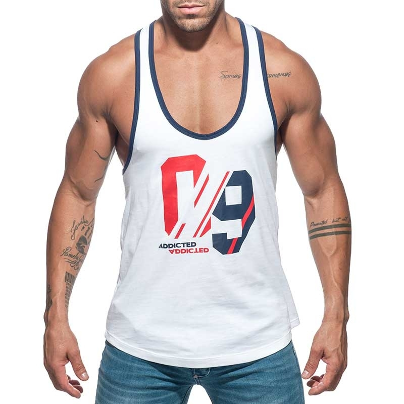 ADDICTED TANKTOP string AD723 Sport-09 in weiss