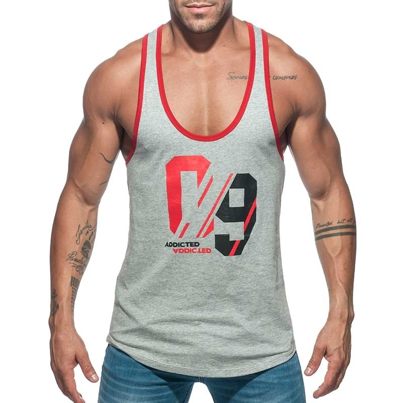 ADDICTED TANKTOP string AD723 Sport-09 in grau