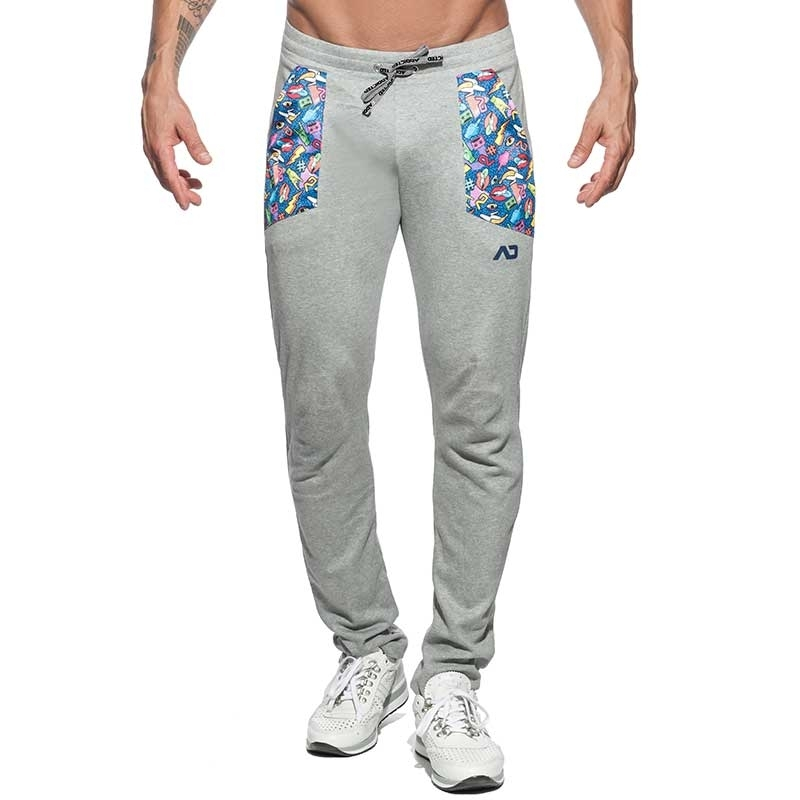 ADDICTED SPORTHOSE Stickers AD666 Lippen in grau