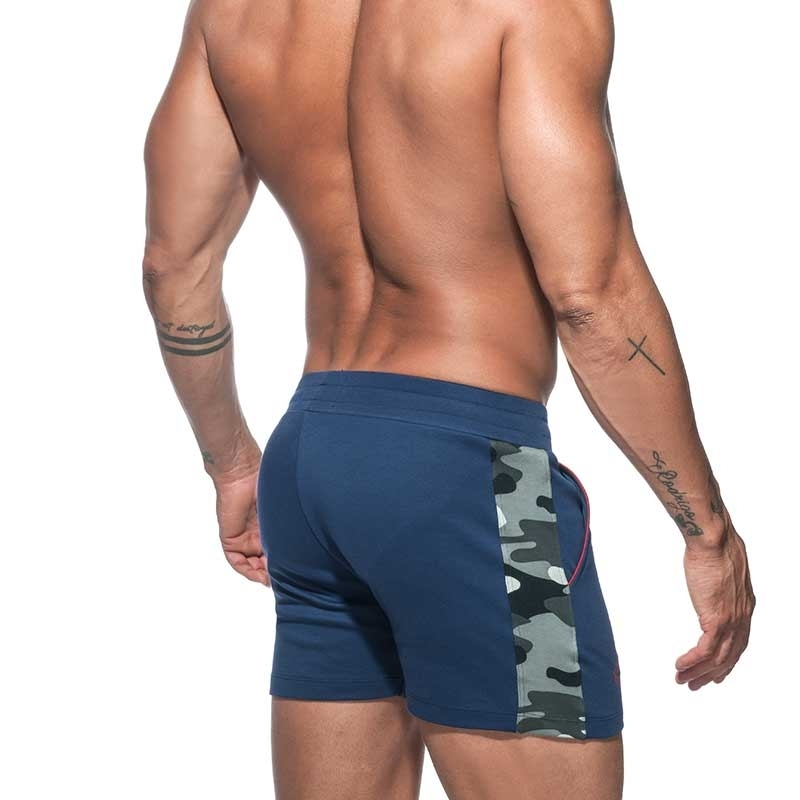 ADDICTED SHORTS Sport AD662 camouflage in dark blue