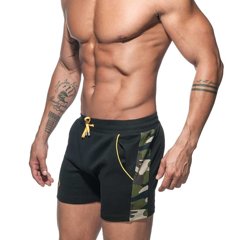ADDICTED SHORTS Sport AD662 camouflage in black