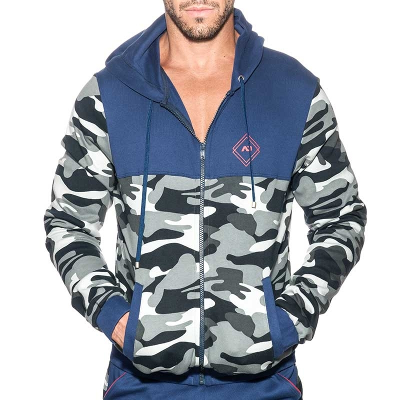 ADDICTED SPORTJACKE Sport AD659 camouflage in dunkelblau