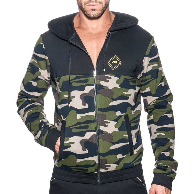 ADDICTED SPORTJACKE Sport AD659 camouflage in schwarz
