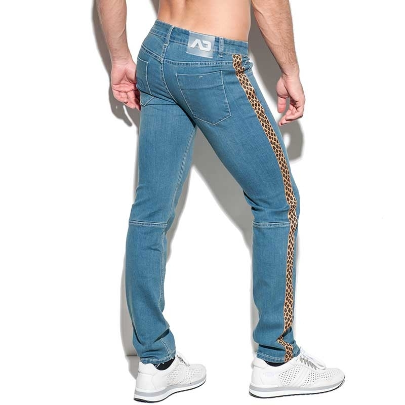 ADDICTED JEANS PANT Leopard AD772 muscle fit in blue