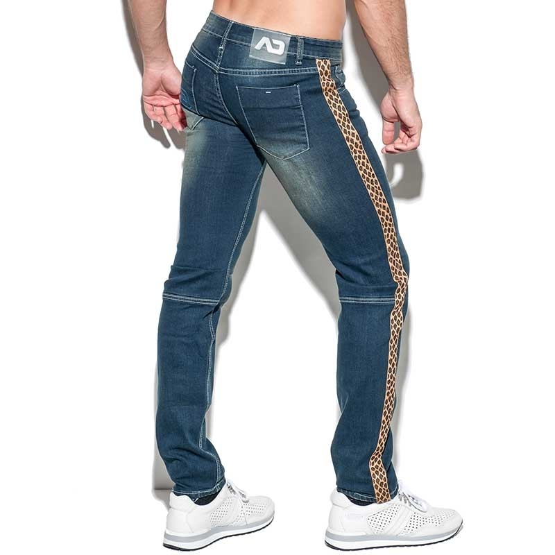 ADDICTED JEANS PANT Leopard AD772 muscle fit in dark blue