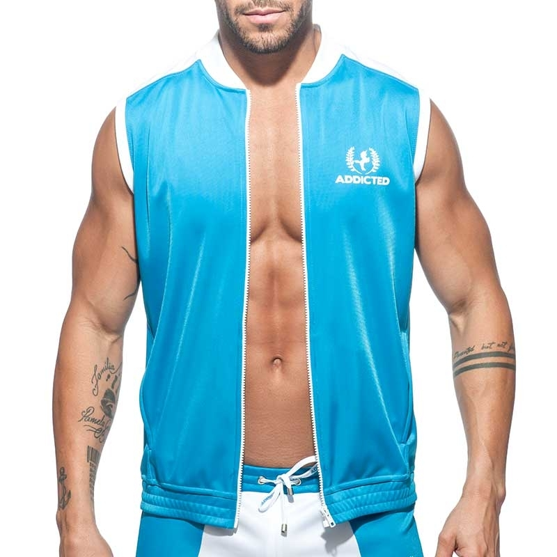 ADDICTED SPORTJACKE TANK Einhorn AD771 Liga in turquoise