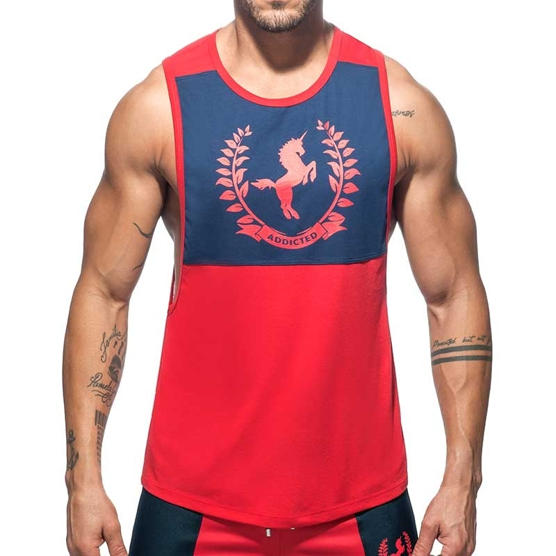 ADDICTED TANKTOP Einhorn AD759 Liga in red
