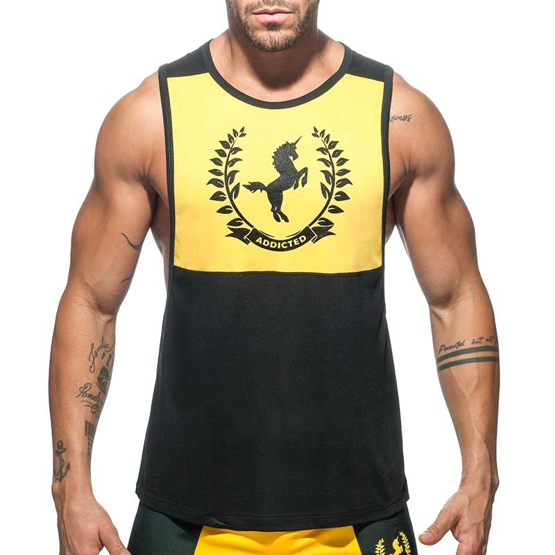 ADDICTED TANK TOP Unicorn AD759 league in black