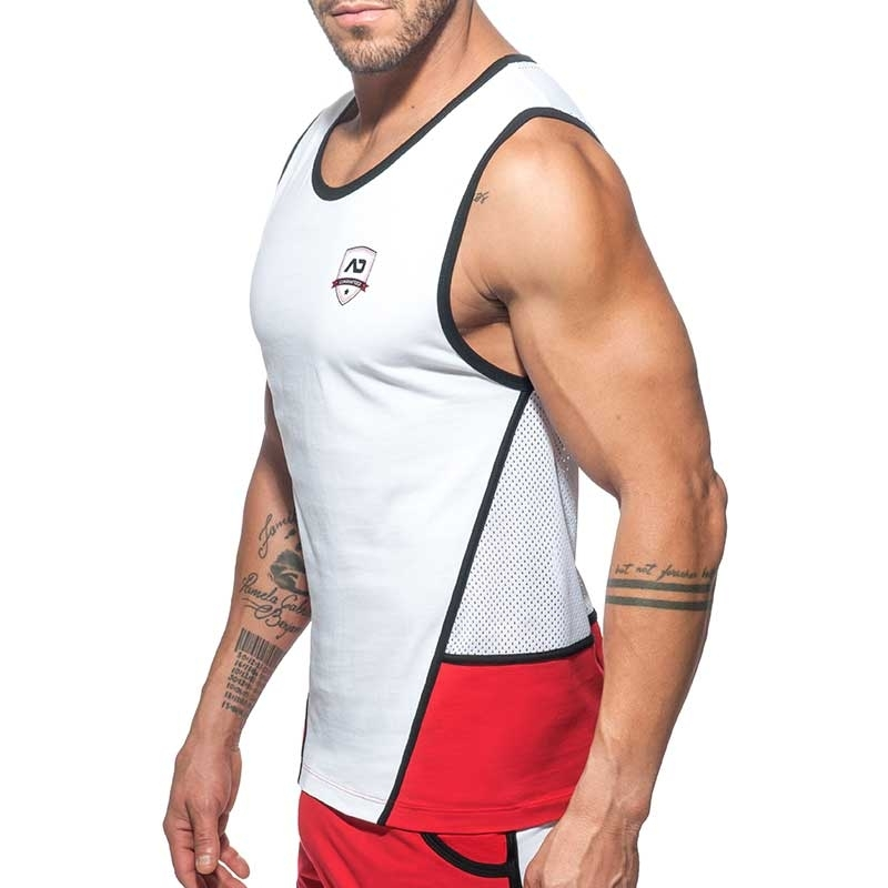 ADDICTED TANK TOP Shield Rocky AD755 mesh in white