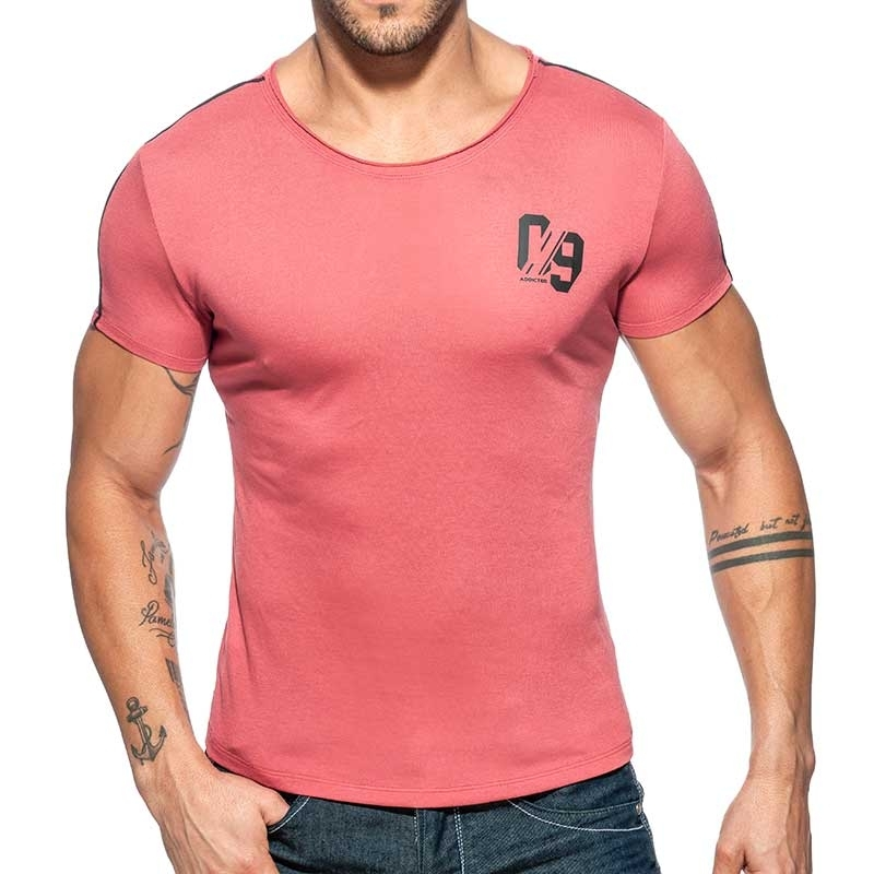 ADDICTED T-SHIRT sport-09 AD704 used style in Rust red