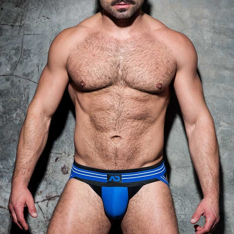 AD-FETISH JOCKstrap Stripe ADF114 mesh in blue