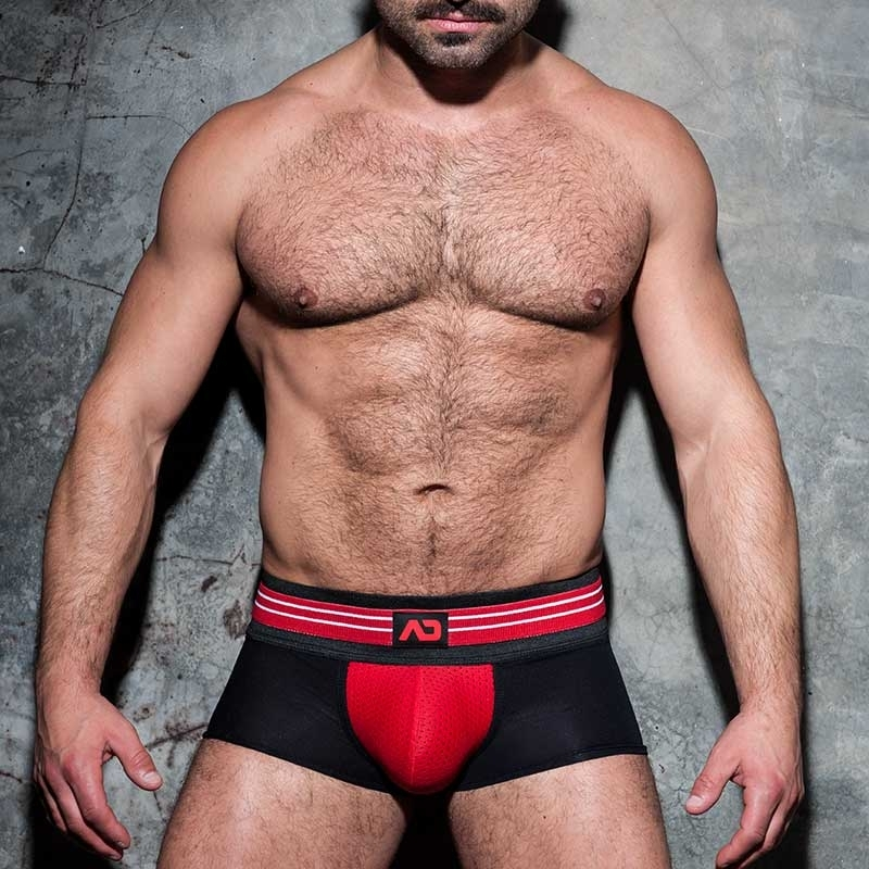 AD-FETISH BOXER stripe ADF113 mesh in red