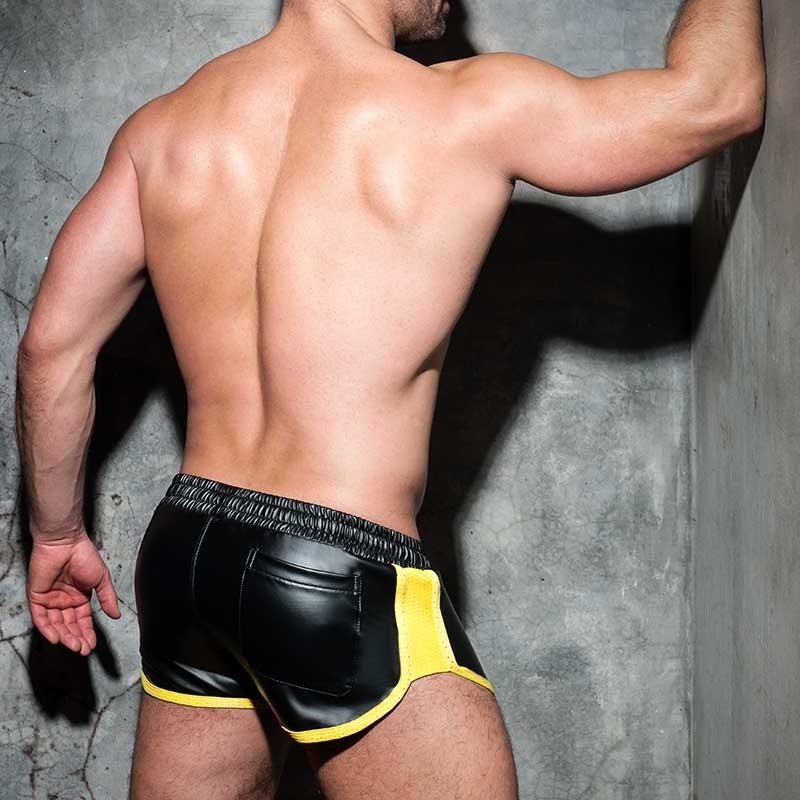 AD-FETISH wet SHORTS sprinter ADF79 code in yellow
