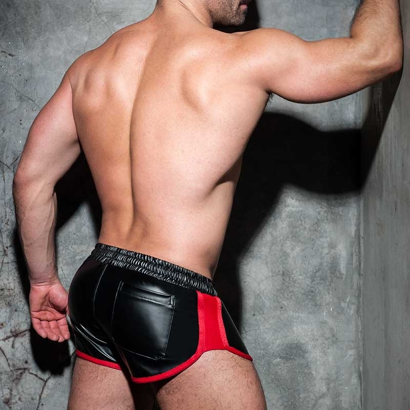AD-FETISH wet SHORTS sprinter ADF79 code in red