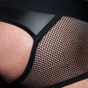 AD-FETISH wet backless BOXER mesh ADF78 Carabiner in black