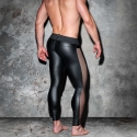 AD-FETISH wet LEGGINGS mesh ADF107 carabiner in black
