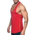 ADDICTED TANK TOP Muscle shirt AD777 flag style in red