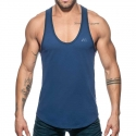 ADDICTED TANKTOP Muskelshirt AD777 Flaggen style in dunkelblau