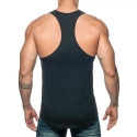 ADDICTED TANK TOP Muscle shirt AD777 flag style in black