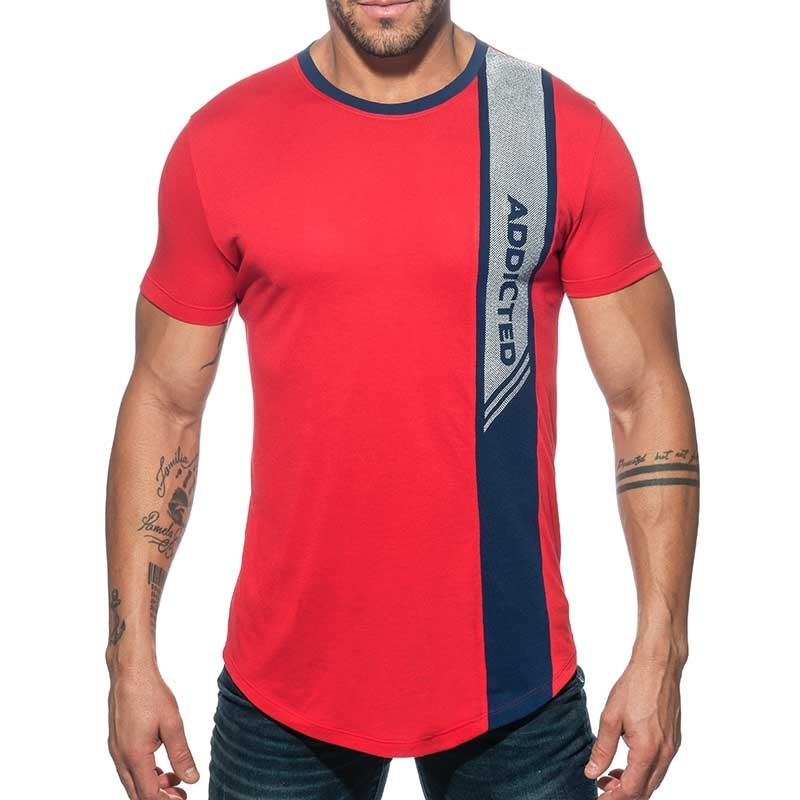 ADDICTED T-SHIRT vertical AD779 wave in red