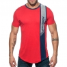 ADDICTED T-SHIRT vertikal AD779 Welle in rot