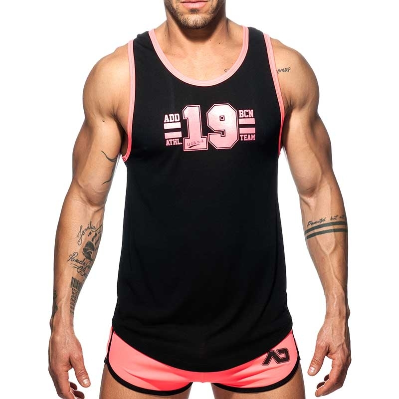 ADDICTED TANKTOP Athletik AD793 Team in neon pink