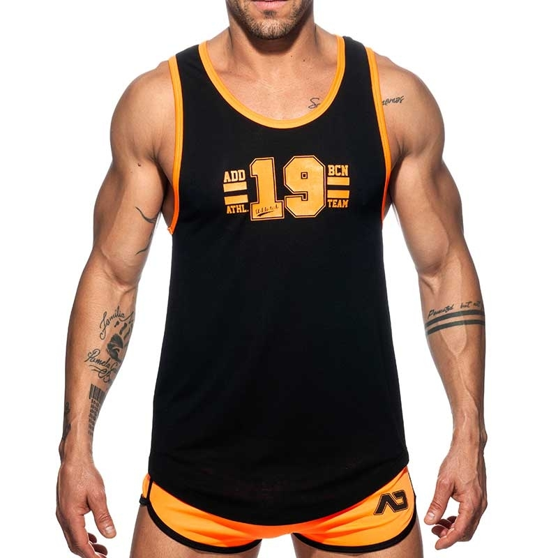 ADDICTED TANK TOP Athletics AD793 Team in neon orange