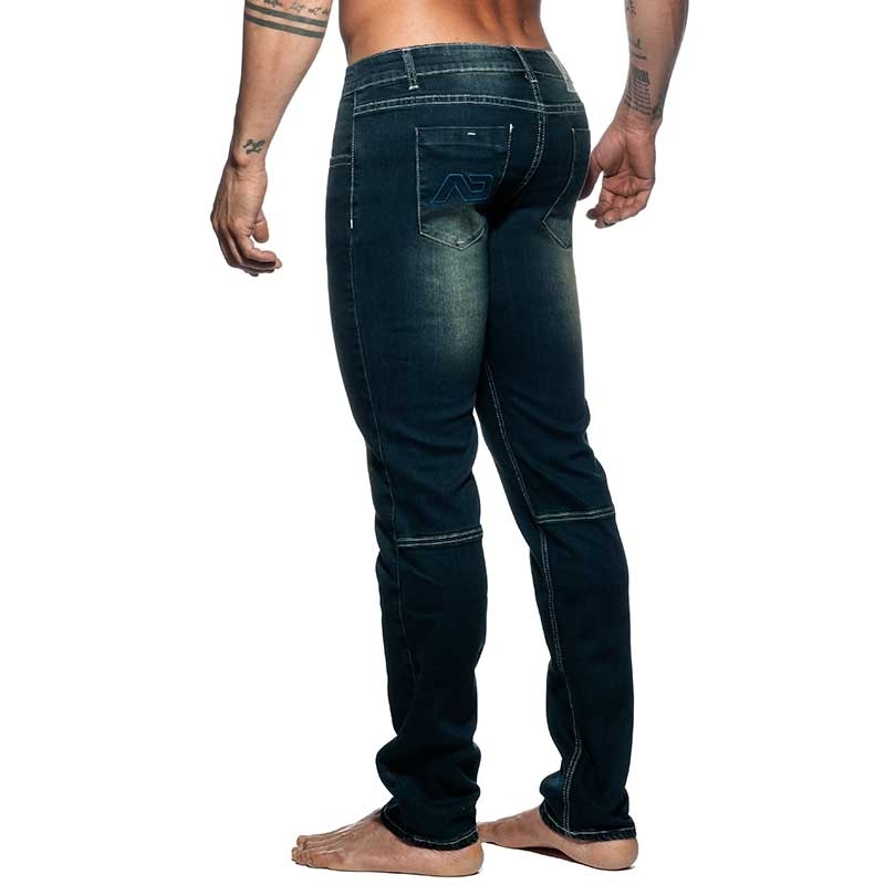 ADDICTED JEANSHOSE Push-Up AD804 Muskel Fit in dunkelblau