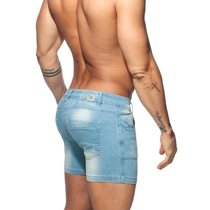 ADDICTED Jeans SHORTS Push-Up AD803 Po-Muskel Fit in blau
