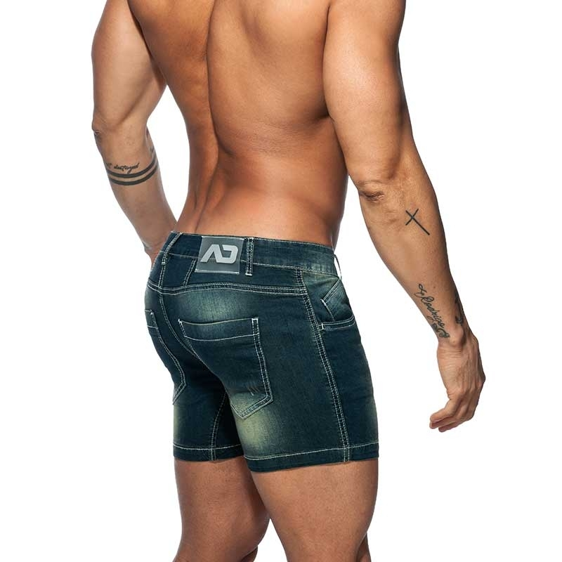 ADDICTED Jeans SHORTS Push-Up AD803 Po-Muskel Fit in dunkelblau