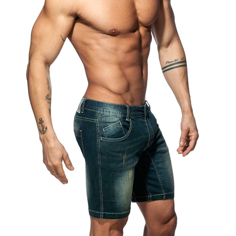 ADDICTED Jeans SHORTS Push-Up AD802 Ass-Muscle Fit in dark blue