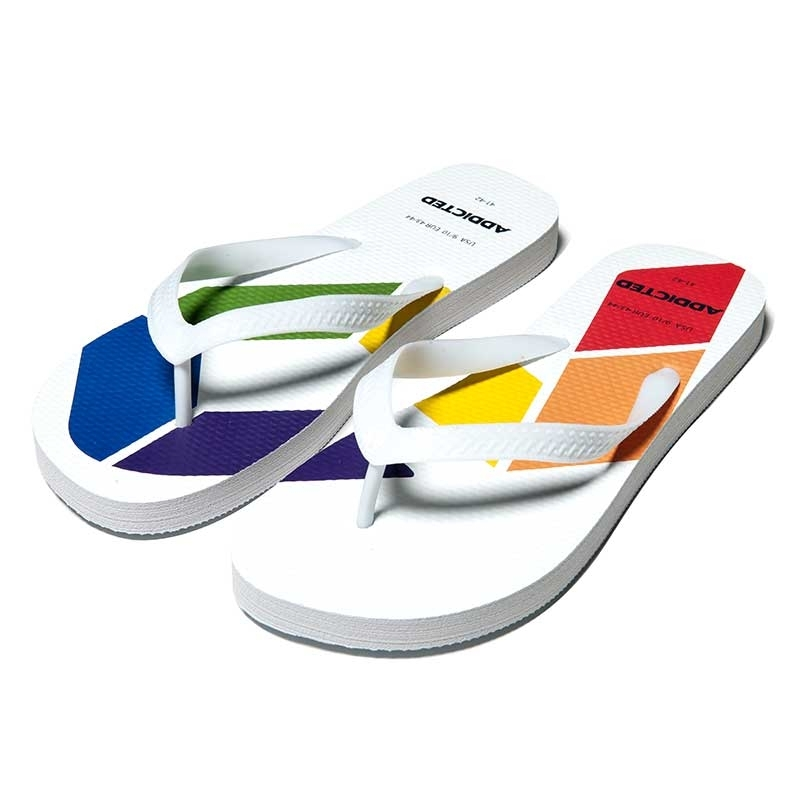 ADDICTED SANDALS Rainbow AD795 toes separator in white