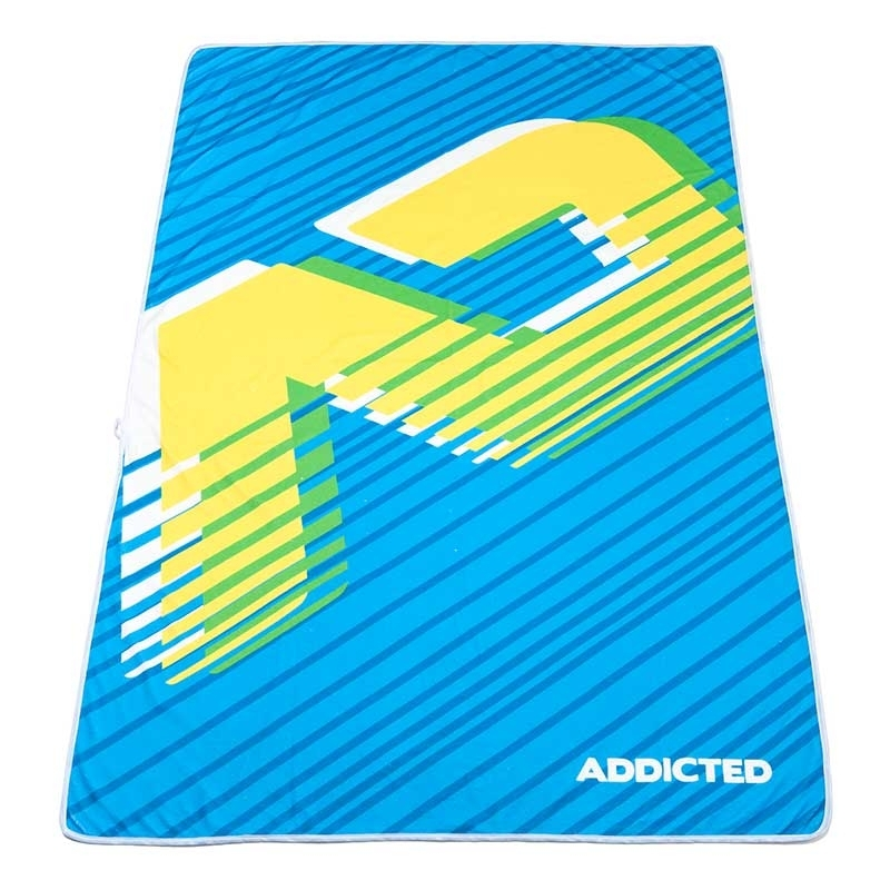 ADDICTED BEACH TOWEL brand AD716 in turquoise