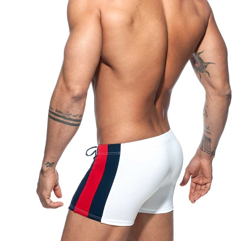 ADDICTED trunks SWIM BOXER Swimmer basic ADS213 push-up in white