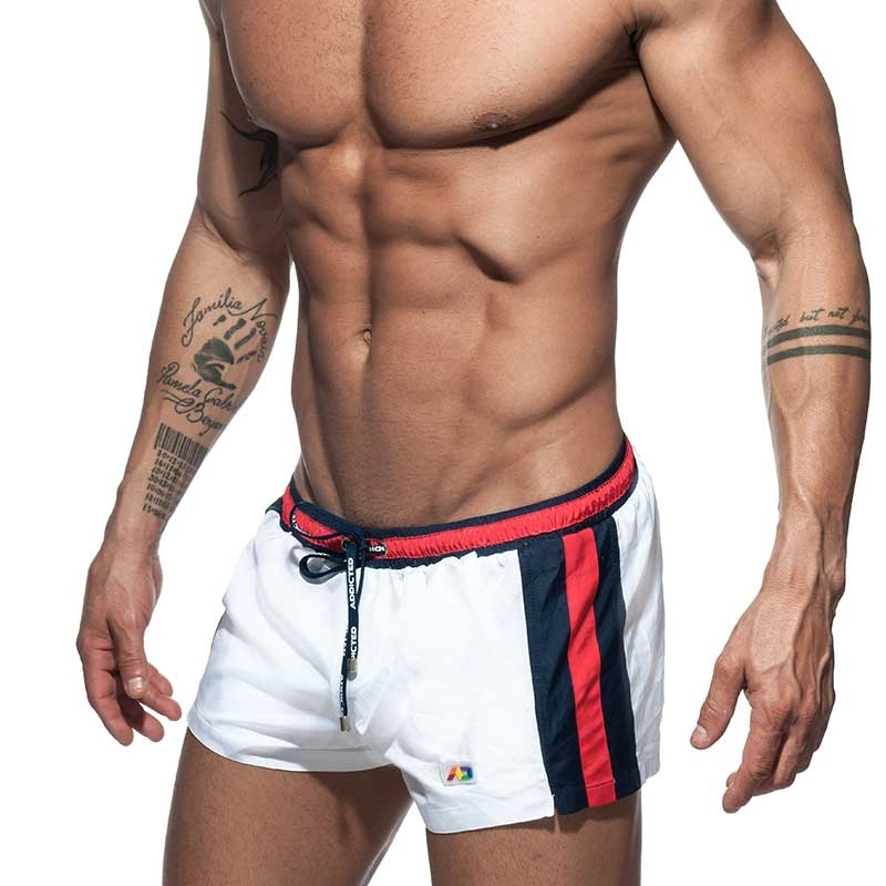 ADDICTED SWIM SHORTS Swimmer basic ADS214 in white