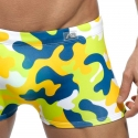 ADDICTED BADEPANTS camouflage ADS131 Push-Up in lemon green