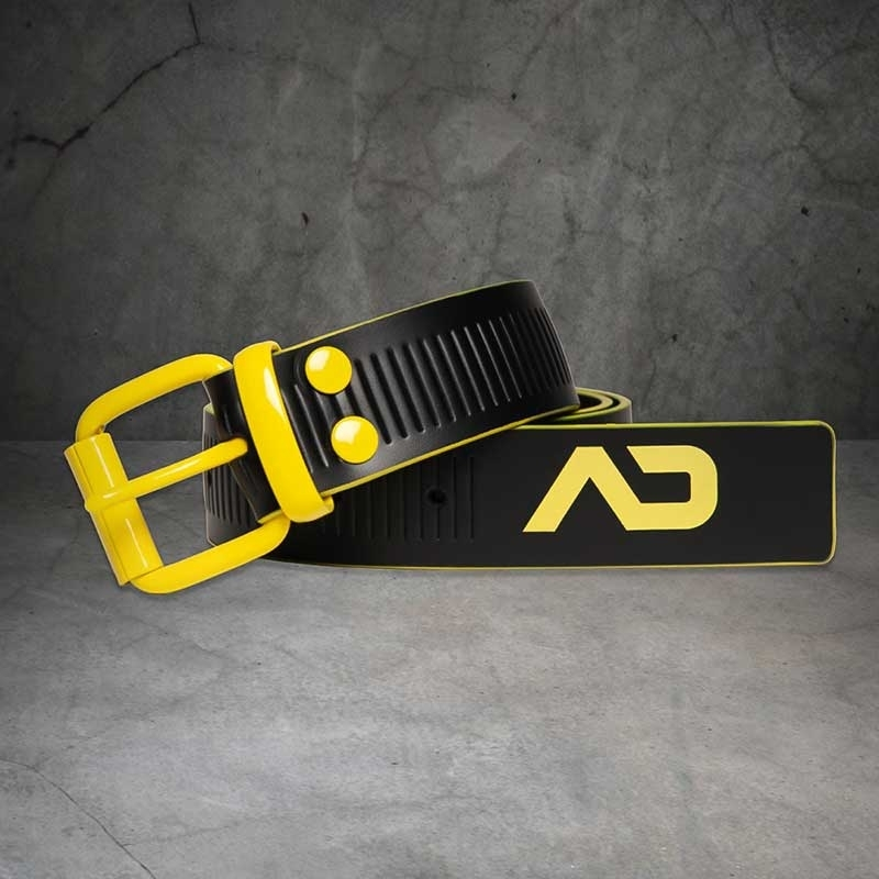 AD-FETISH wet BELT code ADF120 lock buckle in yellow