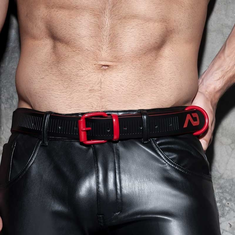 AD-FETISH wet BELT code ADF120 lock buckle in red