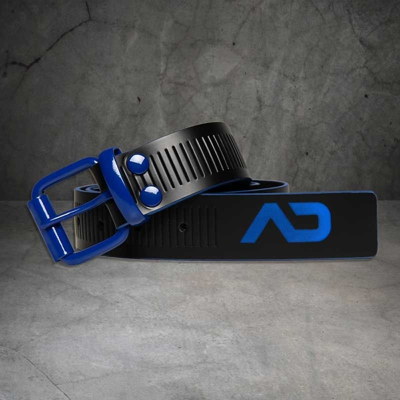 AD-FETISH wet BELT code ADF120 lock buckle in blue