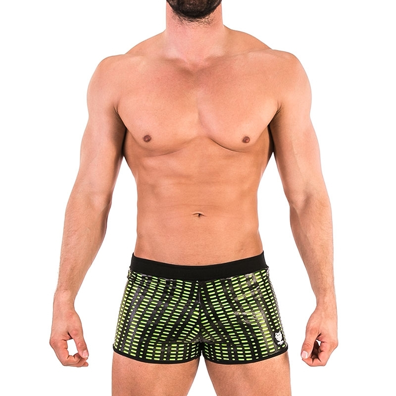 BARCODE Berlin SHORTS grid 91581 Torso in neon green