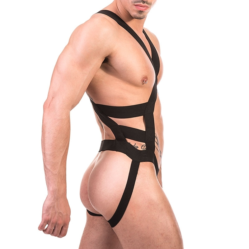 BARCODE Berlin HARNESS bondage 91671 cock strap in black